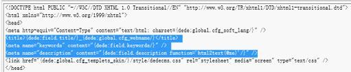 专题页头部标签源代码
