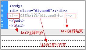 html 注释代码分析图