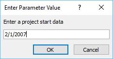 Enter Start Data