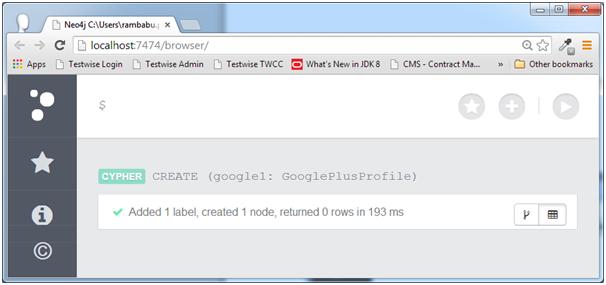 一个标签和一个节点在Neo4j的数据库中创建
