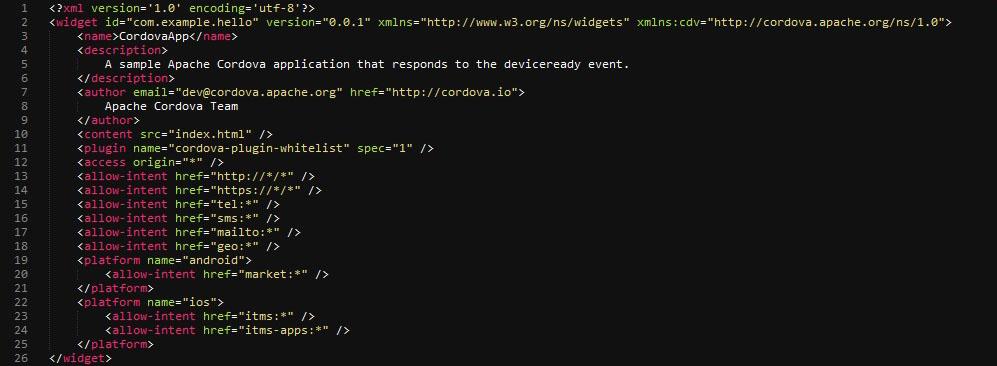Config XML Default