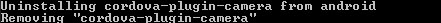Plugman Uninstall CMD Output