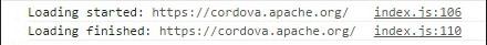Cordova InAppBrowser Console