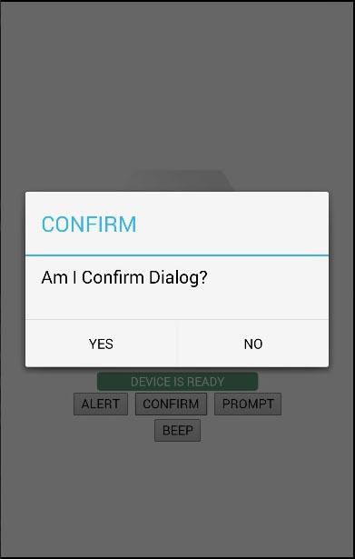 Cordova Dialog Confirm