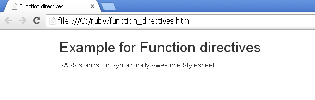 Sass Function Directives