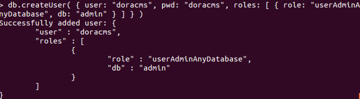 添加admin用户