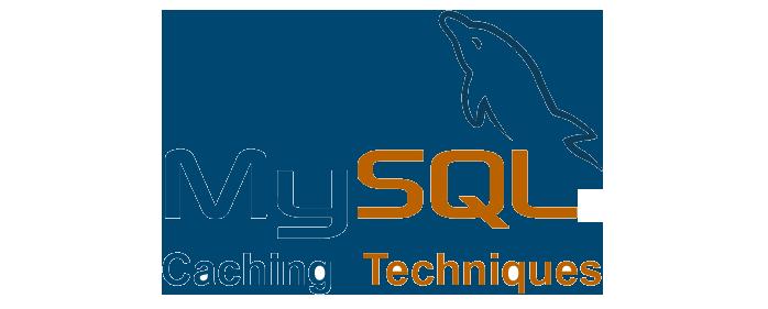 MySQL 缓存技术徽标。