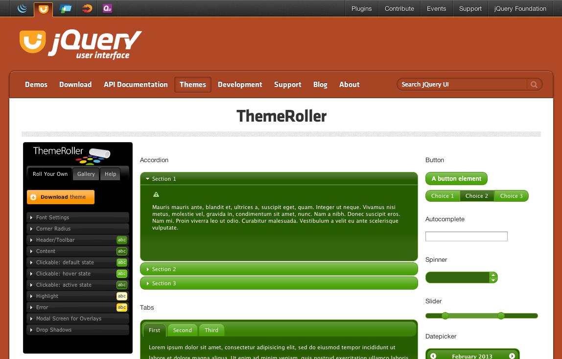 Themeroller实例