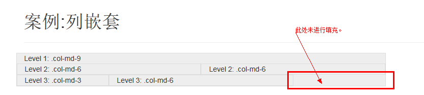bootstrap 列嵌套