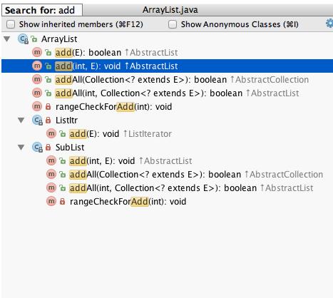IntelliJ IDEA文件的结构显示窗口