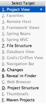 IntelliJ IDEA选择特定的工具窗口