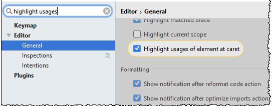 IntelliJ IDEA 禁止在插入符号处突出显示元素的用法