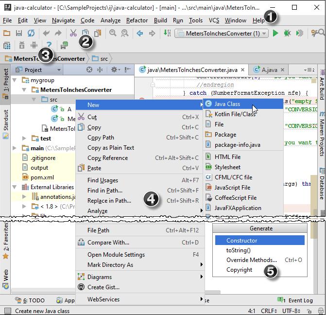 IntelliJ IDEA的菜单栏与工具栏