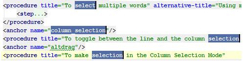 IntelliJ IDEA选择多个文本的操作