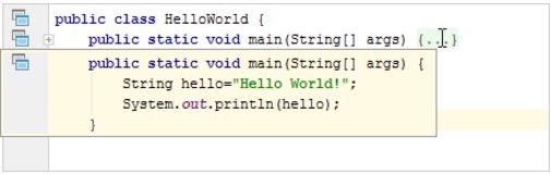 查看IntelliJ IDEA折叠的代码片段