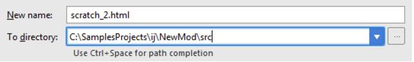 IntelliJ IDEA如何复制和移动scratch文件