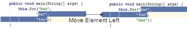 IntelliJ IDEA如何将将代码元素移动到左侧或右侧