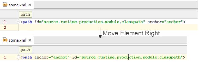 ntelliJ IDEA如何将将代码元素移动到左侧或右侧