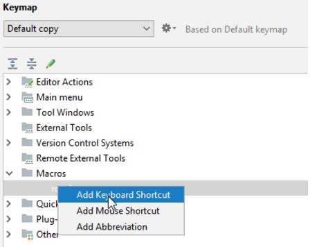 IntelliJ IDEA编辑器如何用键盘快捷方式绑定 Macros
