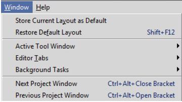 IntelliJ IDEA管理编辑器选项卡的命令