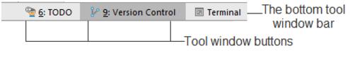 intelliJ IDEA工具窗口栏和按钮