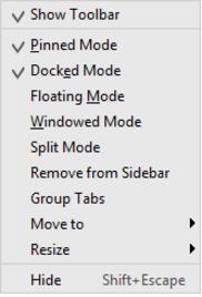 IntelliJ IDEA访问工具窗口的上下文菜单