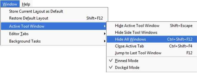 IntelliJ IDEA访问工具窗口菜单