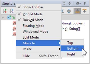 IntelliJ IDEA将工具窗口附加到其他工具窗口栏