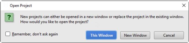 在新窗口中打开IntelliJ IDEA项目