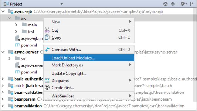 IntelliJ IDEA如何卸载或加载模块
