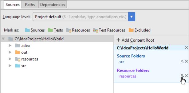 IntelliJ IDEA指定资源的输出路径