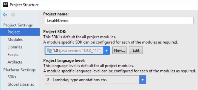 IntelliJ IDEA 管理全局,项目和模块 SDK