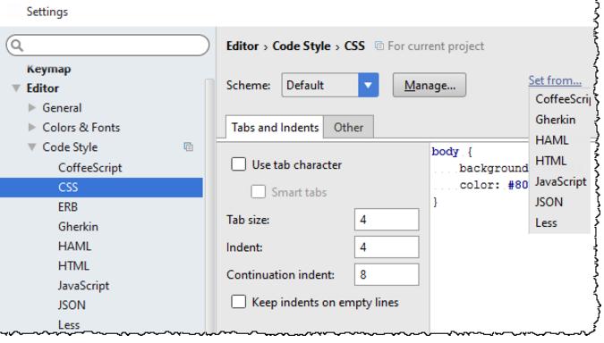 IntelliJ IDEA从其他语言复制代码样式设置