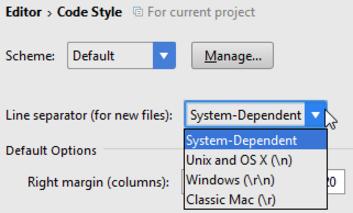 IntelliJ IDEA为新创建的文件设置行分隔符