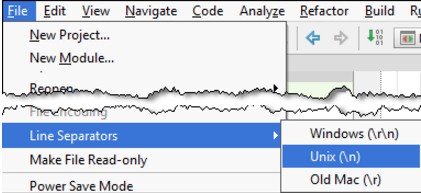 IntelliJ IDEA在项目视图中更改所选内容的行分隔符