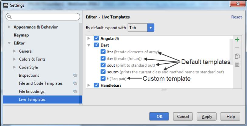 IntelliJ IDEA在不同 IDE 之间共享模板的示例