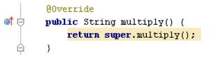 IntelliJ IDEA 重写超类的方法