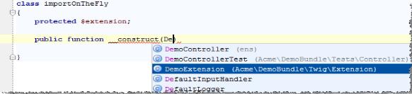 IntelliJ IDEA 即时导入一个 PHP 命名空间