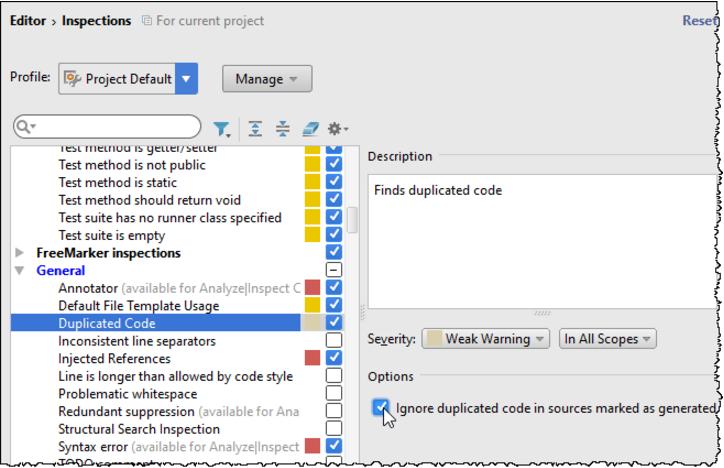 IntelliJ IDEA 动态检测重复项