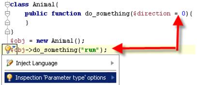 IntelliJ IDEA 代码检查示例:参数类型