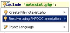 IntelliJ IDEA PHP代码检查示例