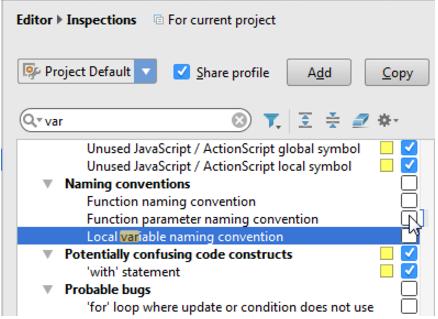 "IntelliJ IDEA 在""设置/首选项""对话框中禁用或启用检查"