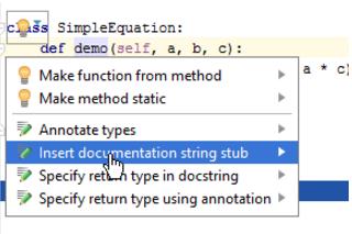 IntelliJ IDEA 为 Python 函数创建文档注释