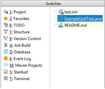 IntelliJ IDEA在打开的文件和工具窗口之间进行导航