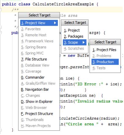 IntelliJ IDEA 在 IDE 组件之间导航