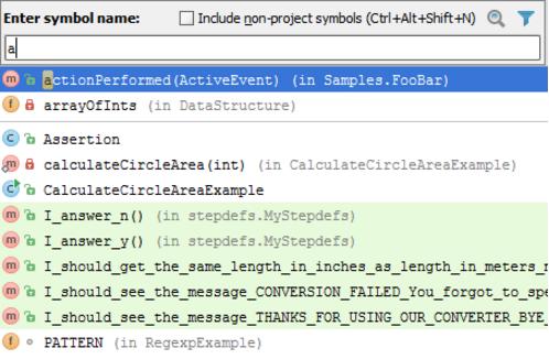 IntelliJ IDEA导航到具有指定名称的类,文件或符号