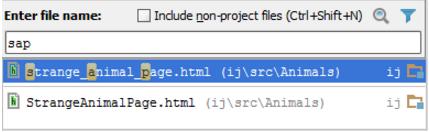 IntelliJ IDEA按名称导航到类,文件或符号