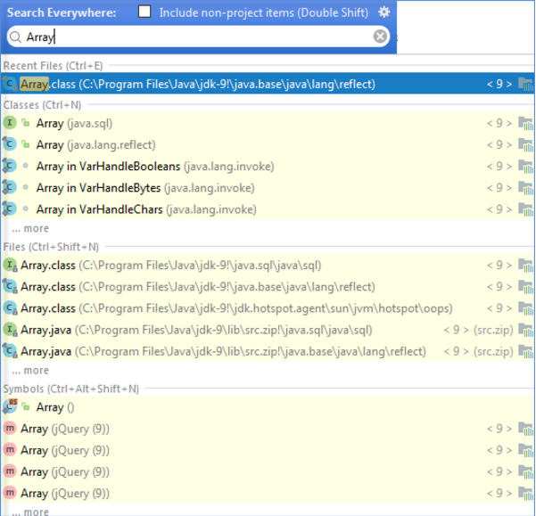 "IntelliJ IDEA打开""Search Everywhere""对话框"
