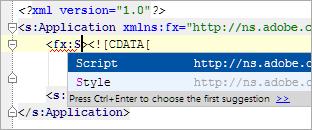 编辑ActionScript和Flex源代码