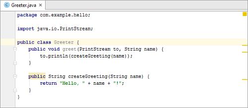 Greeter类开发代码